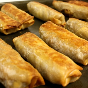 Baked Southwest Chicken Egg Rolls