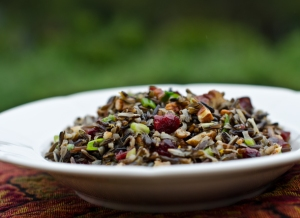 Wild Rice Pomegranage Salad