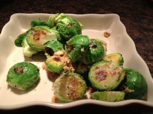 Lemon Parmesan Brussels Sprouts