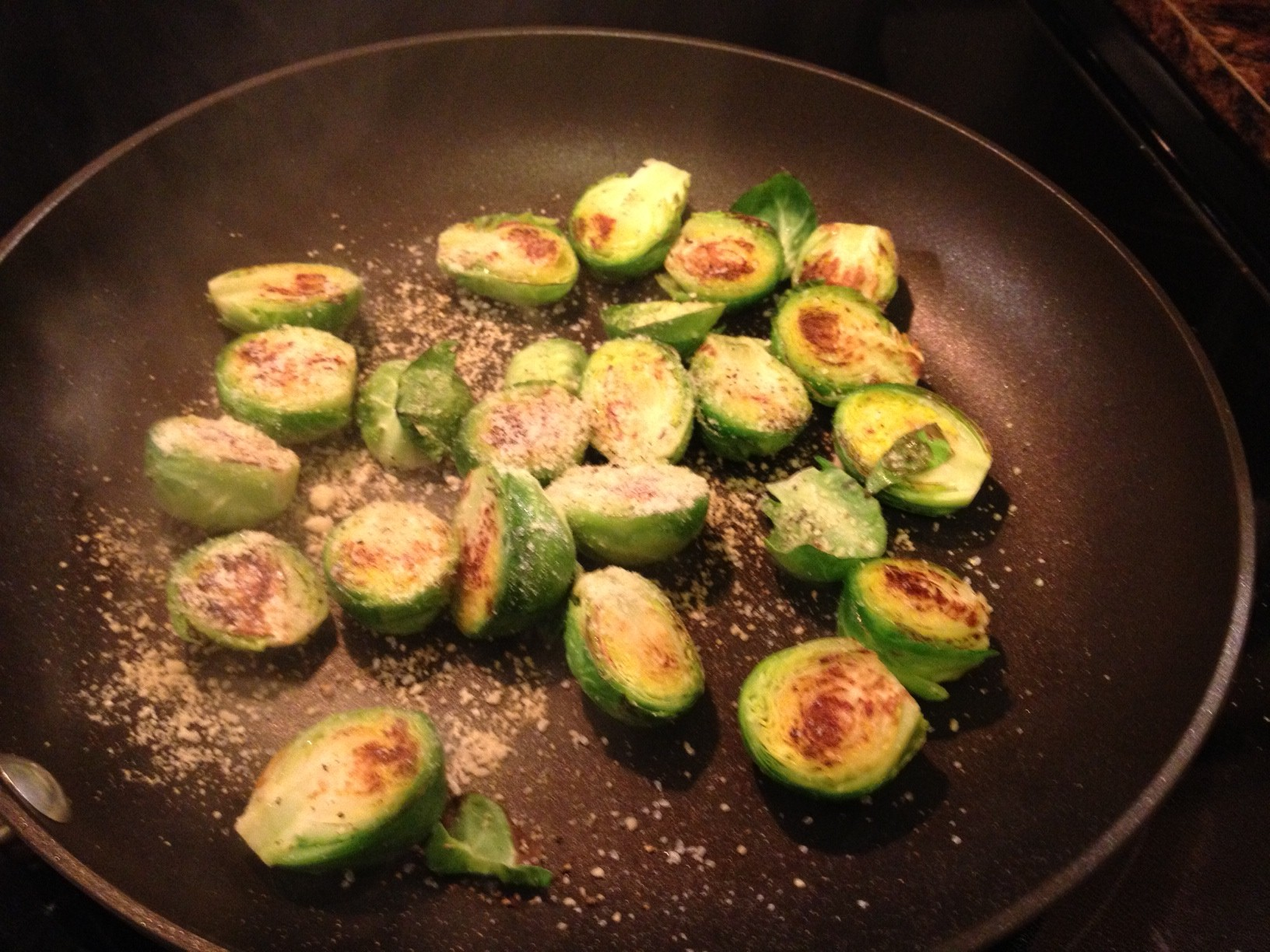 Lemon Parmesan Brussels Sprouts | This RD Eats!