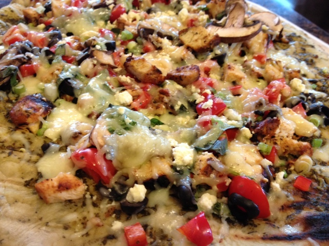 Mediterranean Grilled Chicken Pizza1