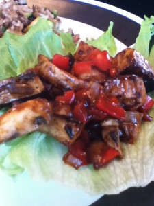 Lettuce Wraps with Hoisin-Mustard Tofu