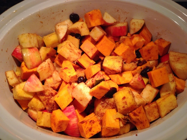 Slow Cooker Squash and Apples