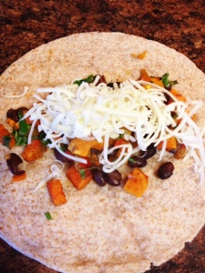 Sweet Potato Black Bean Burritos2