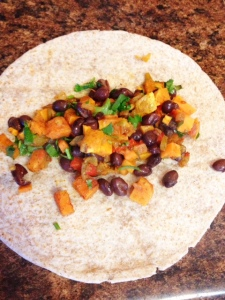 Sweet Potato Black Bean Burritos4