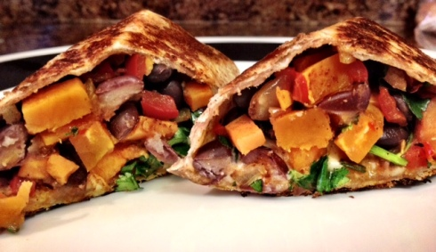Sweet Potato Black Bean Burritos5