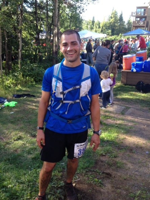 My husband after finishing his most-recent 50 MILE race!
